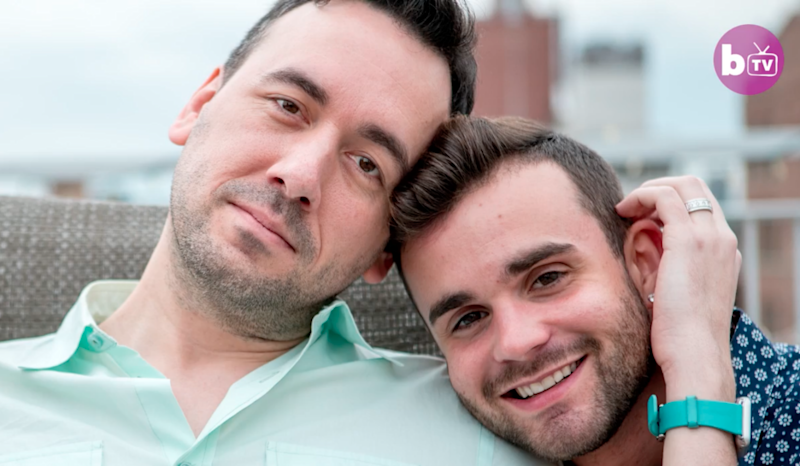Matt and Chris are married. Photo: Barcroft TV