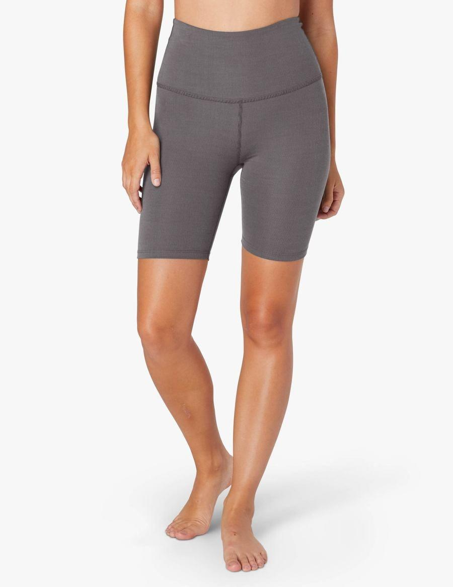 <p>These <span>Beyond Yoga Heather Rib High Waisted Biker Shorts</span> ($68) are lightweight and so easy to pair with any top.</p>