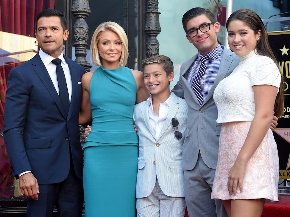 """Mark Consuelos and Kelly Ripa have three children. <p class=""""copyright"""">Axelle/Bauer-Griffin / Getty Images</p>"""