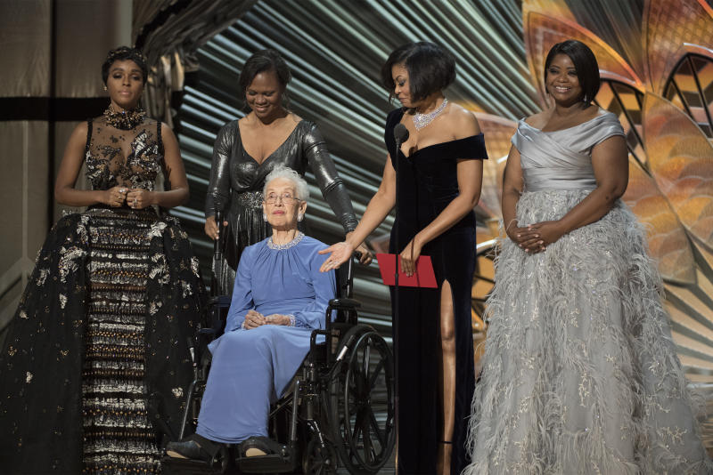 """Johnson was honored at the 2017 Academy Awards as a """"true American hero."""" (20th Century Fox)"""