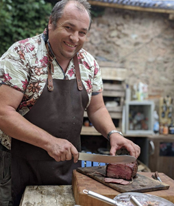 Marcus Bawdon BBQ master from the UK - mobility which KamadoSpace offers expands grilling boundaries