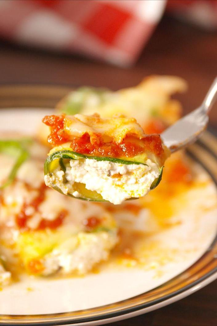 "<p>Search no further for the perfect low-carb alternative to heavy pasta.</p><p>Get the recipe from <a href=""https://www.delish.com/cooking/recipe-ideas/recipes/a54032/zucchini-manicotti-recipe/"" rel=""nofollow noopener"" target=""_blank"" data-ylk=""slk:Delish"" class=""link rapid-noclick-resp"">Delish</a>.</p>"