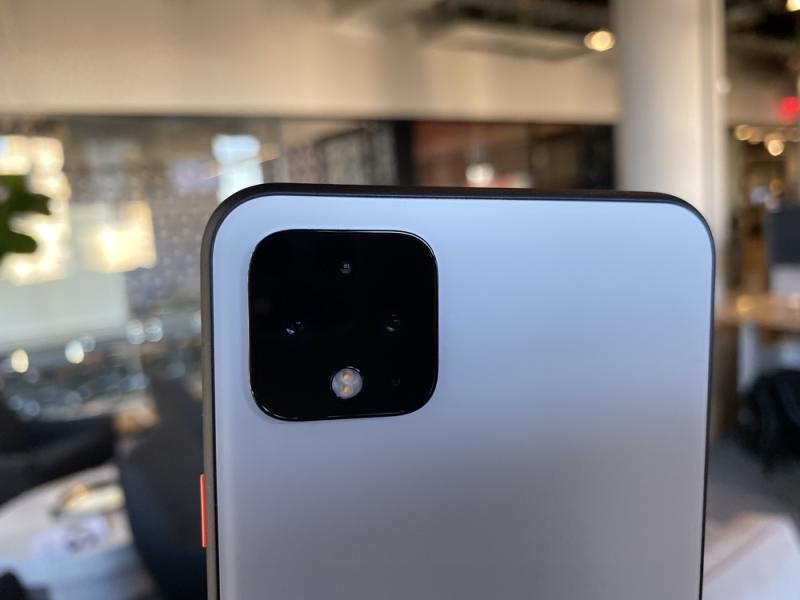 The Pixel 4 sports two cameras: a wide-angle option, and a telephoto lens. (Image: Howley)