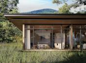 "<p>Sprawling over 131 acres in the Catskills, this new destination hotel is sure to become a hotspot for New Englanders seeking a luxurious escape, with digs inspired by ancient Rome. Guests can find extra privacy in <a href=""https://www.theaurum.com/"" rel=""nofollow noopener"" target=""_blank"" data-ylk=""slk:The Aurum"" class=""link rapid-noclick-resp"">The Aurum</a>'s standalone mountain bungalows (shown here) if they want something more secluded than a room or suite, which have views of the mountains and private outdoor garden areas. Those looking for more of a social scene can take advantage of Aurum Thermae, the property's bath house and focal point, inspired by the monumental-sized domes first seen in the Roman Imperial period, offering a unique wellness experience for the U.S.<em><br></em></p><p><em>The Aurum is expected to open in fall 2021 with rates yet to be determined. </em></p>"