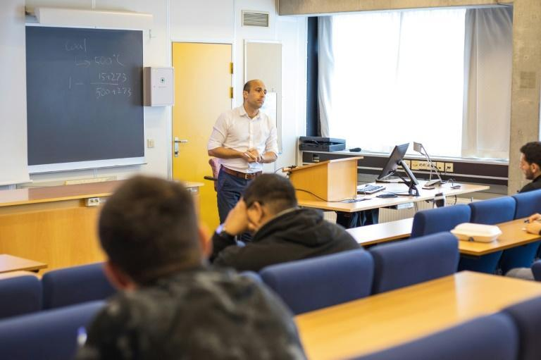 Despite the prospect of a high-paying job later on, at the University of Stavanger, the number of Masters students in oil engineering is shrinking (AFP/Petter BERNTSEN)