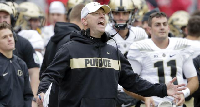 Jeff Brohm turned down a chance to be Louisville's football coach, per Yahoo Sports sources. (AP)