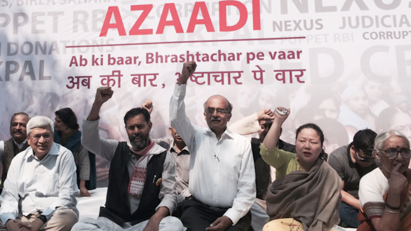 Protest Held Over Sahara-Birla Diaries, Kalikho Pul Issue in Delhi