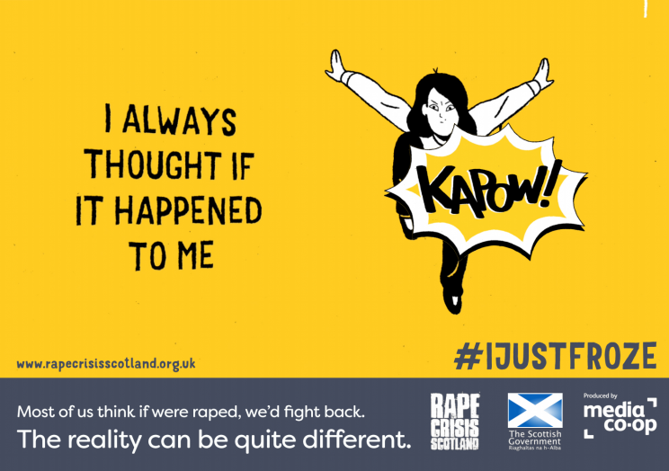 <i>As of next month, jurors will be told that many victims do not fight back [Photo: Rape Crisis Scotland]</i>