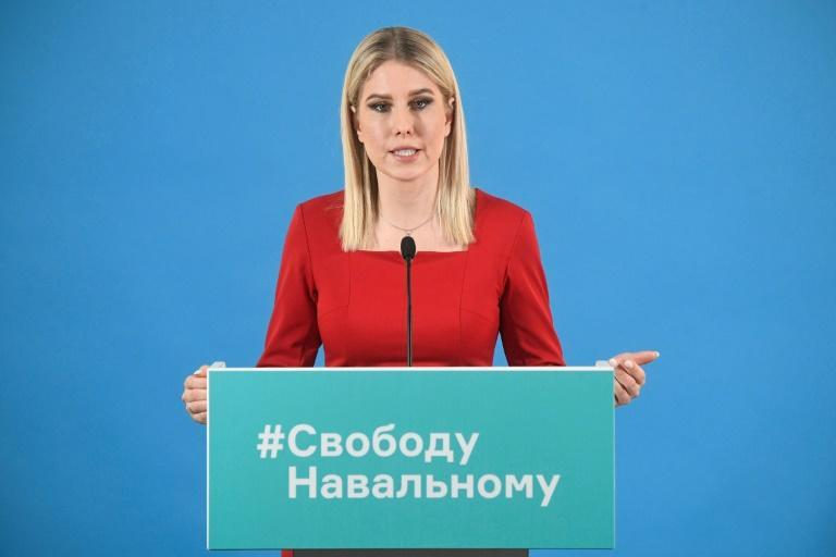 """At a press conference at the offices of Alexei Navalny's Anti-Corruption Foundation in central Moscow, his associate Lyubov Sobol said people joined last weekend's protests because of """"the lawlessness that is happening in our country"""""""