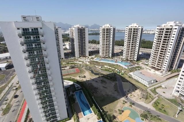 View of the athletes Olympic Village during its inauguration for the Rio Olympic Games on June 15, 2016 (AFP Photo/Beth Santos)