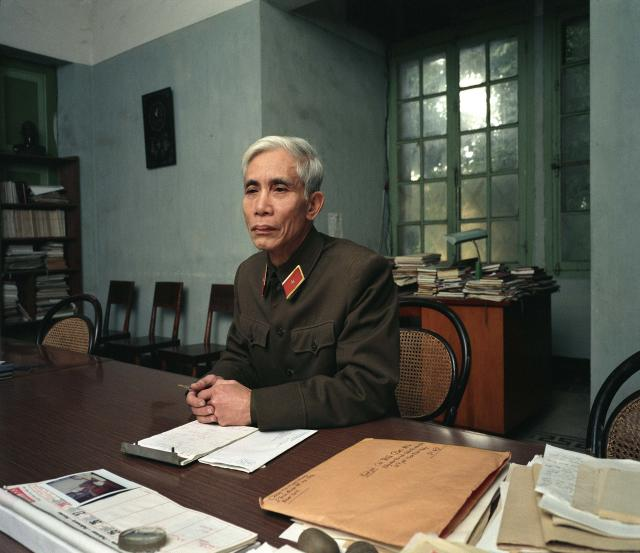 "<p>Major General Trần Công Mân (Editor, Army newspaper), 1988. (© William E. Crawford from the book ""Hanoi Streets 1985-2015: In the Years of Forgetting"") </p>"
