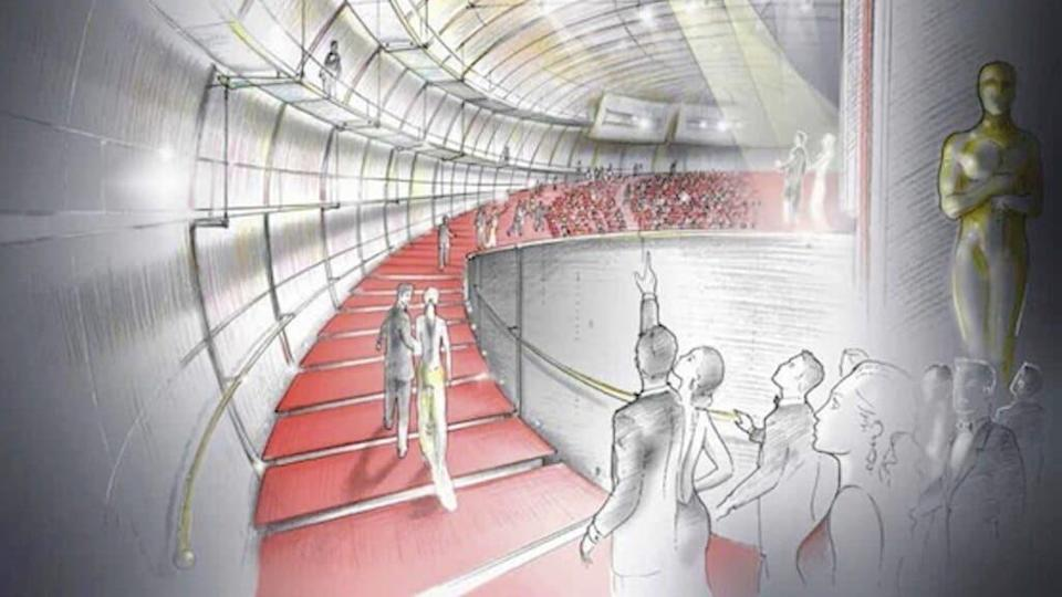 A 2013 sketch of what would become the David Geffen Theater / AMPAS