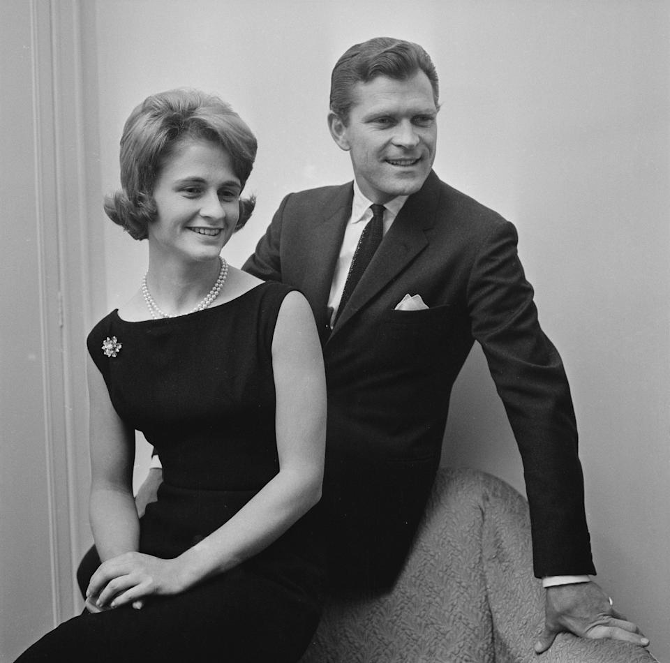 Patty with his fiancee Marcina Sfezzo, November 1960 - Daily Express/Hulton Archive/Getty