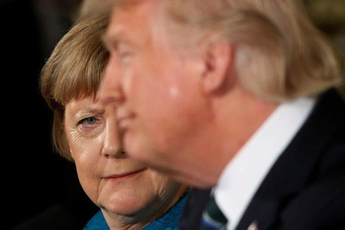 German Chancellor Angela Merkel and President Trump during a joint news conference, March 17, 2017. (Photo: Reuters/Jonathan Ernst)