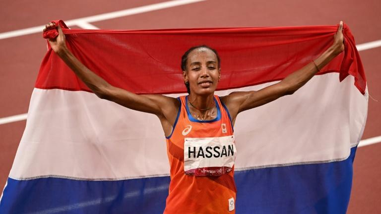 Sifan Hassan won two golds and a bronze at the Tokyo Olympics (AFP/Ina FASSBENDER)