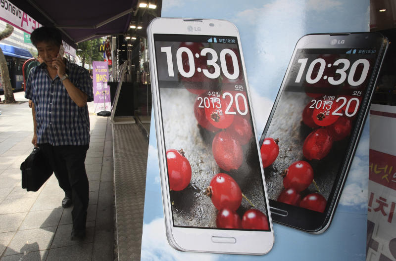 LG's profit falls on weak TV demand, handset costs