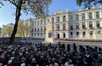 The nation has remembered those who lost their lives in conflict on Remembrance Sunday (Picture: SWNS)