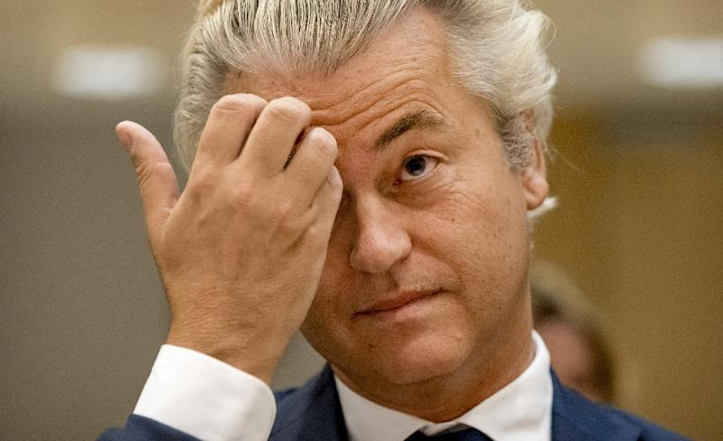 """Defiant Dutch anti-Islam MP Geert Wilders said his trial next week on charges of inciting racial hatred was """"a political trial"""" (AFP Photo/Remko de Waal)"""