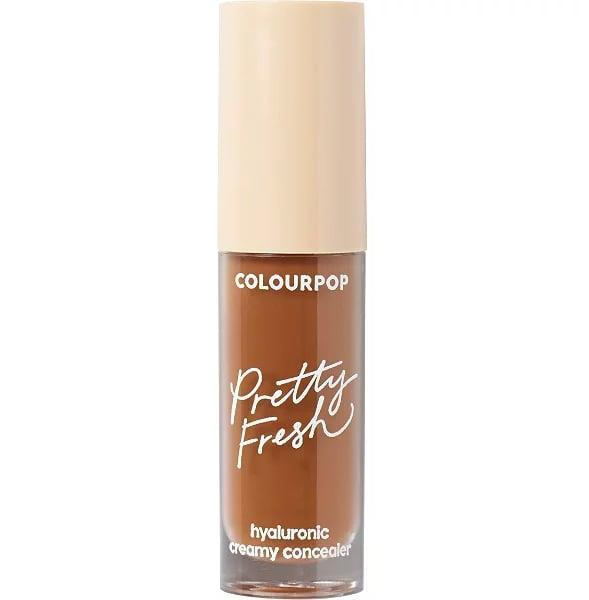 """<p>Dark circles and imperfections are instantly covered with the <a href=""""https://www.popsugar.com/buy/ColourPop-Pretty-Fresh-Hyaluronic-Creamy-Concealer-588644?p_name=ColourPop%20Pretty%20Fresh%20Hyaluronic%20Creamy%20Concealer&retailer=ulta.com&pid=588644&price=9&evar1=bella%3Aus&evar9=30490550&evar98=https%3A%2F%2Fwww.popsugar.com%2Fphoto-gallery%2F30490550%2Fimage%2F47613225%2FConcealer-ColourPop-Pretty-Fresh-Hyaluronic-Creamy-Concealer&list1=hair%2Cmakeup%2Cbeauty%20products%2Cbeauty%20shopping%2Cdrugstore%20beauty%2Cskin%20care&prop13=api&pdata=1"""" class=""""link rapid-noclick-resp"""" rel=""""nofollow noopener"""" target=""""_blank"""" data-ylk=""""slk:ColourPop Pretty Fresh Hyaluronic Creamy Concealer"""">ColourPop Pretty Fresh Hyaluronic Creamy Concealer</a> ($9). The formula is lightweight and hydrating, but still offers a full-coverage finish.</p>"""