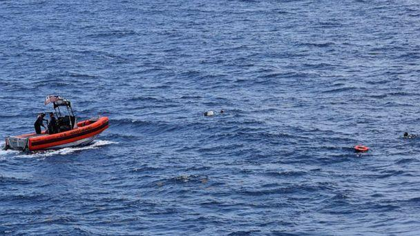 PHOTO: An image posted by the U.S. Coast Guard via Twitter on May 28, 2021, shows the ongoing search and rescue efforts after 10 people were reported missing when a boat traveling from Cuba capsized near Key West, Fla. (USCGSoutheast/Twitter)