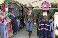 <p>Shopping during the Gatcombe Park Festival at Gatcombe Park near Tetbury, England.</p>