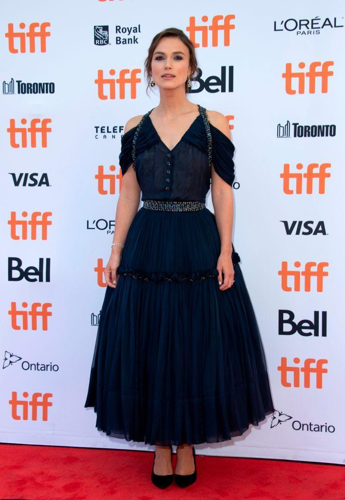 <p>Keira Knightley made a rare red carpet appearance on September 11 at Toronto Film Festival in a tulle dress. <em>[Photo: Getty]</em> </p>