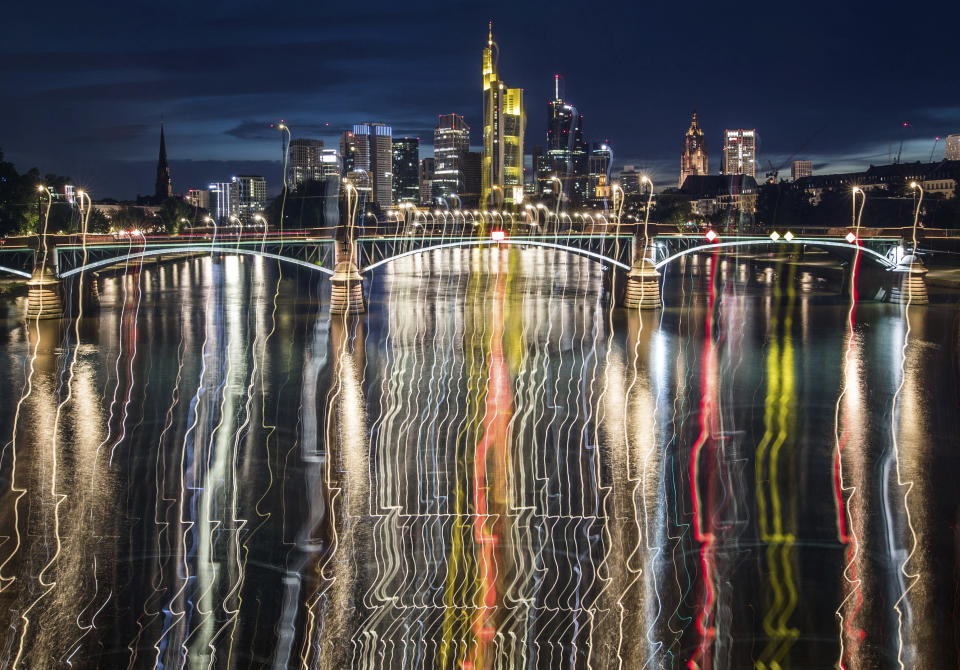 Frankfurt has become a popular choice for financial institutions looking to relocate post-Brexit (Frank Rumpenhorst/dpa via AP)
