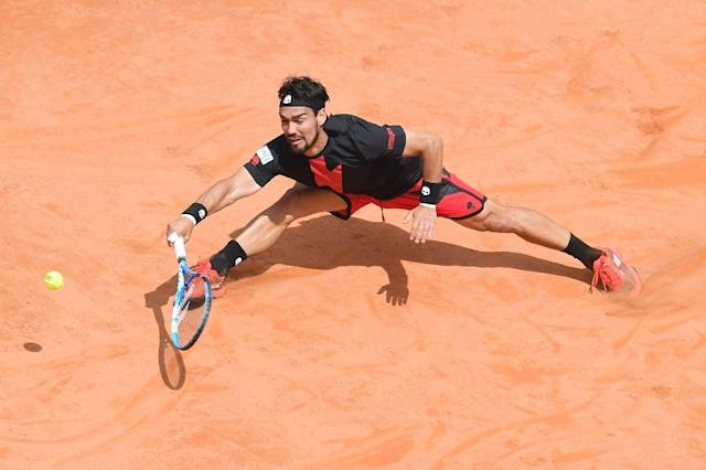 Fabio Fognini held his nerve in Rome to inflict a rare clay court defeat on Dominic Thiem (AFP Photo/Tiziana FABI)