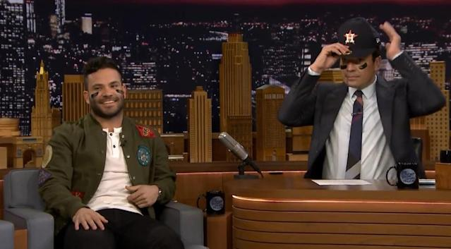 Jose Altuve chats with Jimmy Fallon on The Tonight Show. (Youtube)