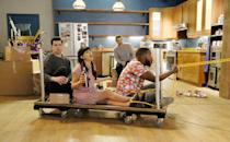"""<p>This very silly series follows a dysfunctional group of roommates who are bonded by career disappointments, family disputes, and relationship complications (oftentimes involving each other). The show is hilarious enough on its own, but it somehow becomes absolutely riotous when you're high as a kite. </p> <p><a href=""""http://www.netflix.com/title/70196145"""" class=""""link rapid-noclick-resp"""" rel=""""nofollow noopener"""" target=""""_blank"""" data-ylk=""""slk:Watch New Girl on Netflix now."""">Watch <strong>New Girl</strong> on Netflix now.</a></p>"""