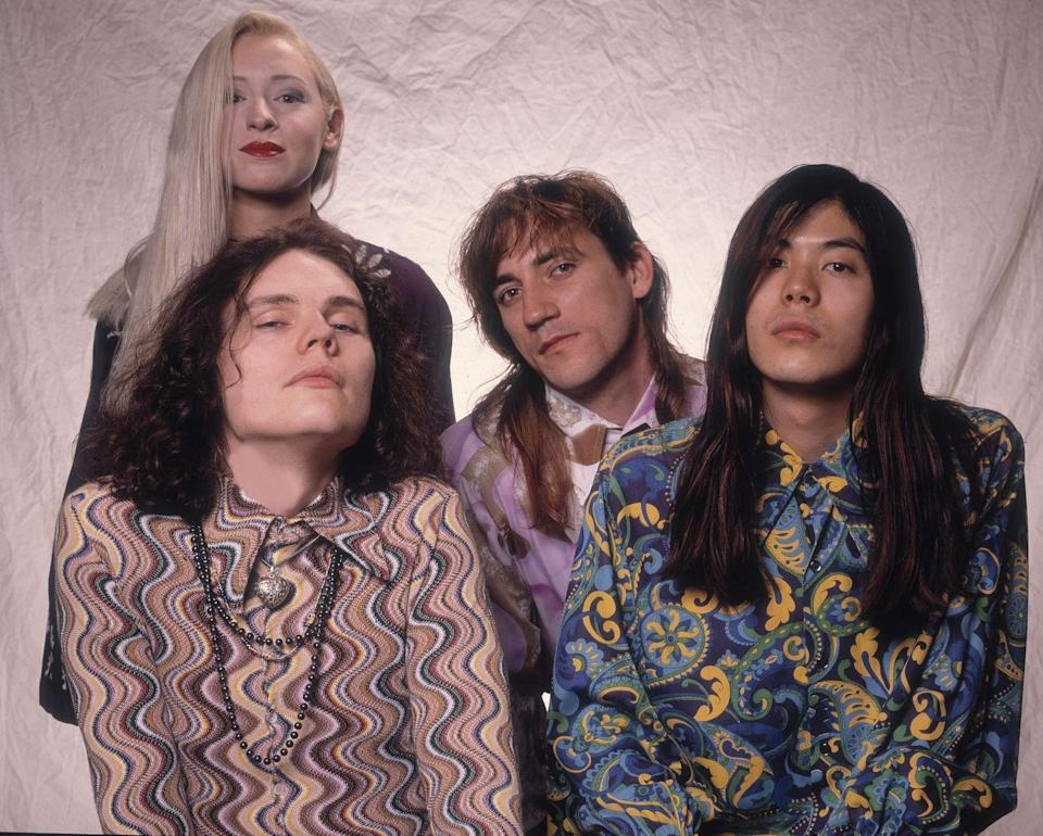 <p>Smashing Pumpkins as they pose in a photo studio, Chicago, Illinois, May 10, 1991.</p>