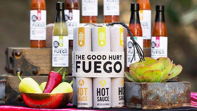 Best gifts for dads: Good Hurt Fuego Hot Sauce Sampler