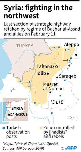 Map showing Idlib province in Syria (AFP Photo/)