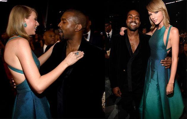 Kanye and Taylor in happier times. Source: Getty