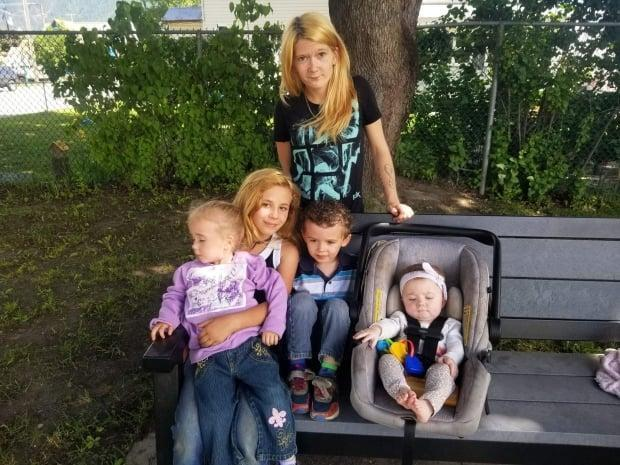 Brittany Thompson, a mother to 4 children, died in a crash near Sicamous, B.C., sometime after the RCMP tried to stop the vehicle she was in.  (Submitted by Dania Israel - image credit)