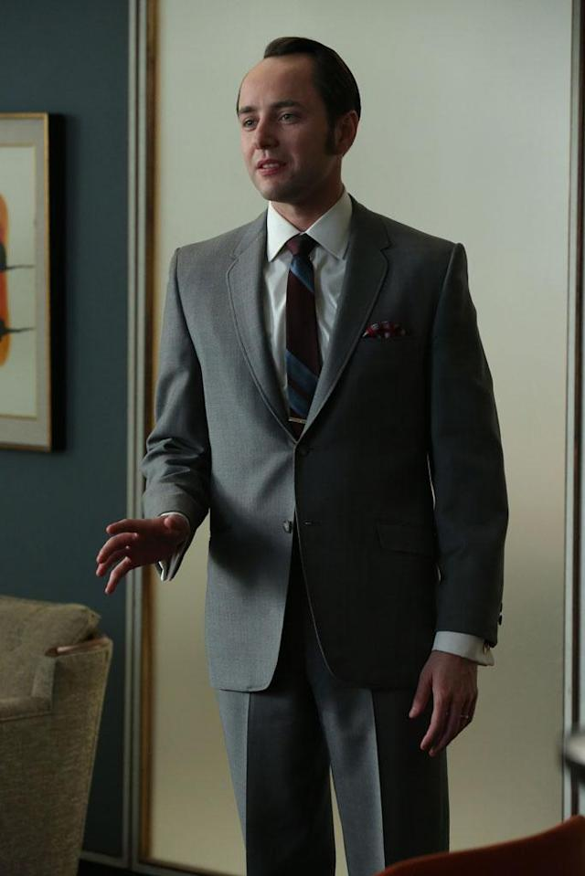 "Pete Campbell (Vincent Kartheiser) in the ""Mad Men"" episode, ""A Tale of Two Cities."""