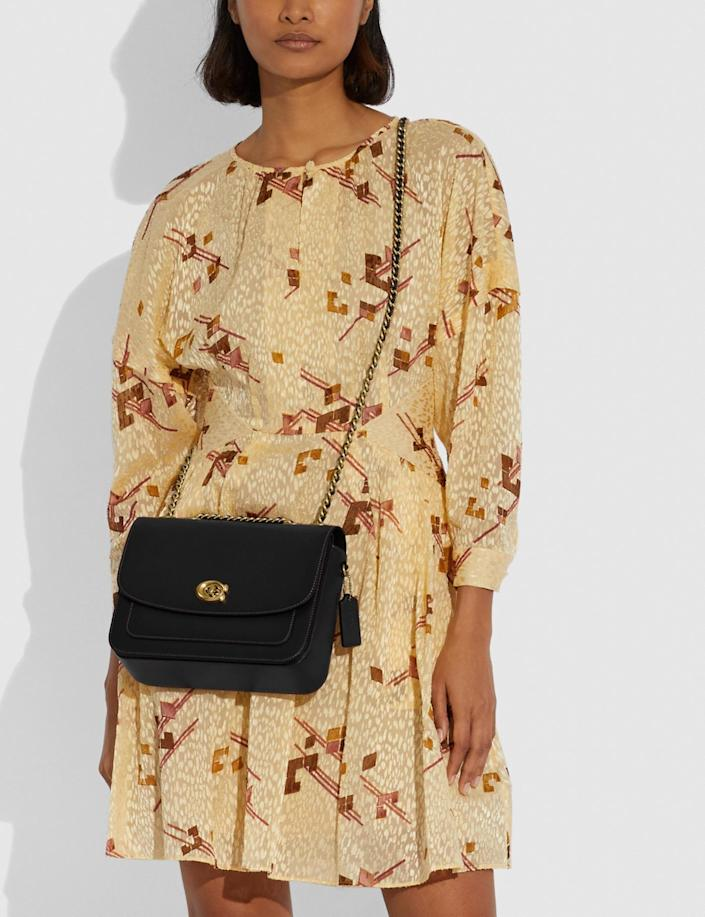 <p>This classic <span>Coach Madison Shoulder Bag</span> ($395) is one you'll own forever.</p>