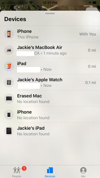 how to use the find my app on iphone finddevice1