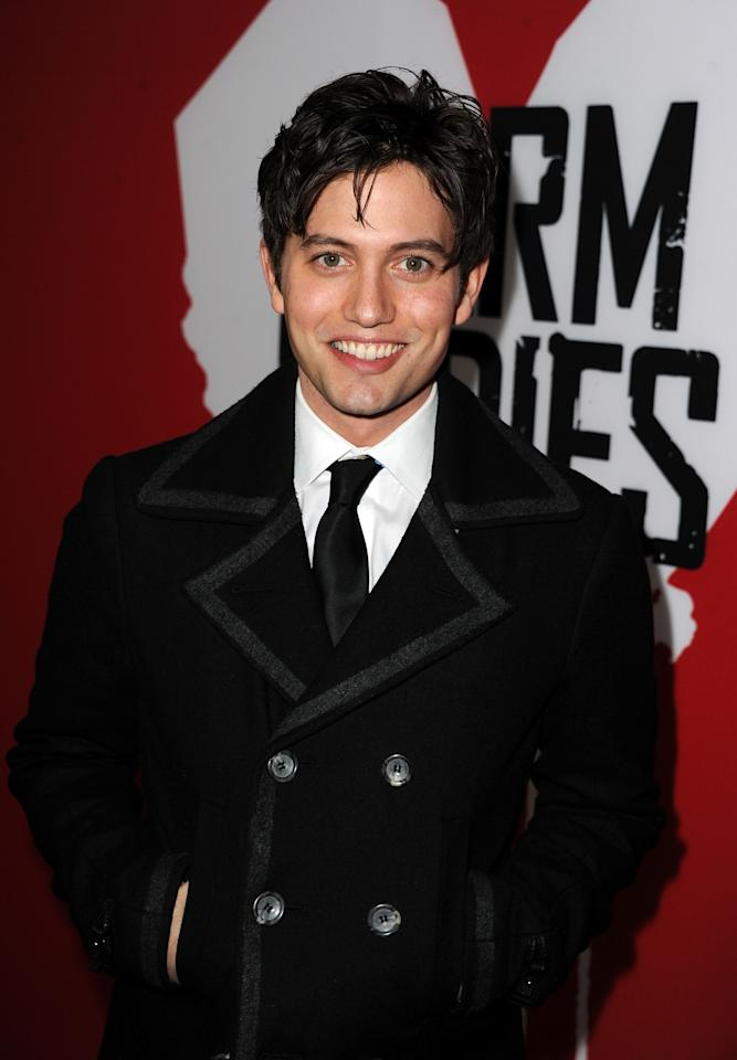 "HOLLYWOOD, CA - JANUARY 29:  Actor Jackson Rathbone arrives for the Los Angeles premiere of Summit Entertainment's ""Warm Bodies"" at ArcLight Cinemas Cinerama Dome on January 29, 2013 in Hollywood, California.  (Photo by Kevin Winter/Getty Images)"