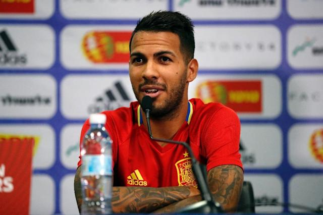Jonathan Viera made his Spain debut in October's 1-0 World Cup qualifying win over Israel (AFP Photo/THOMAS COEX)