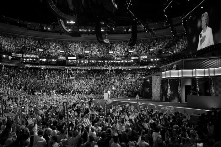 <p>Hillary Clinton accepts the nomination for president at the DNC in Philadelphia, PA. on Jauly 28, 2016. (Photo: Khue Bui for Yahoo News)</p>