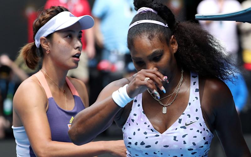 Williams won a title in the build-up to this year's Australian Open but was beaten by Wang Qiang in the third round - AFP