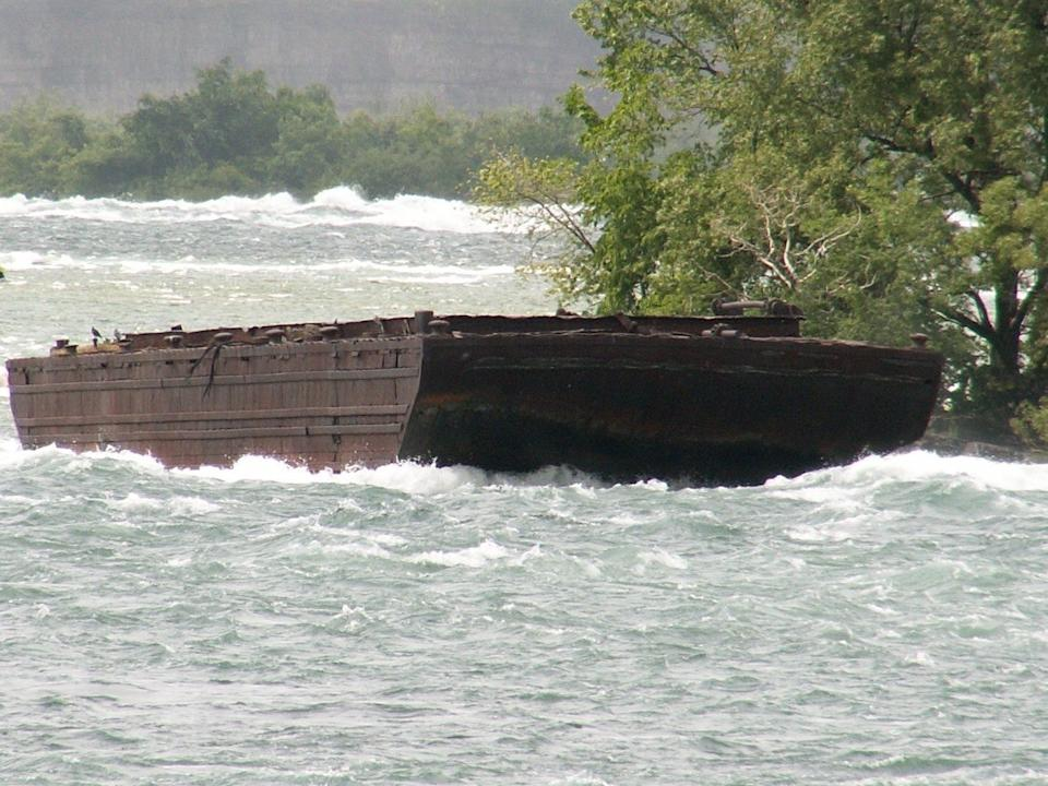 The Niagara Scow had been rusting in the same spot since an accident in 1918 sent it drifting towards Niagara Falls: Dick Bauch