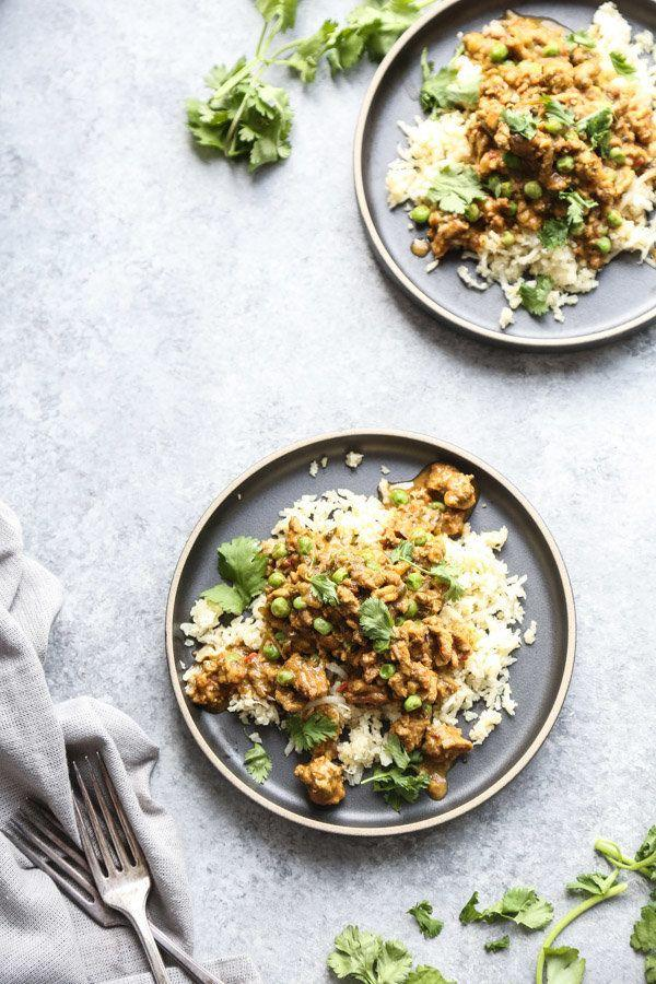 """<strong>Get the <a href=""""https://feedmephoebe.com/slow-cooker-indian-chicken-kheema-recipe/"""" target=""""_blank"""">Slow Cooker Indian Chicken Kheema with Peas recipe</a>from Feed Me Phoebe</strong>"""