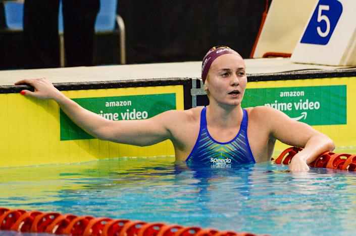 If anyone is going to challenge Katie Ledecky, it could be Australia's Ariarne Titmus. (Brenton Edwards/AFP via Getty Images)