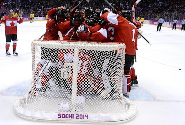 Two-time defending Olympic champion Canada will be seeking a fourth men's gold despite the absence of elite NHL players at the Winter Games for the first time since 1994 (AFP Photo/ANTONIN THUILLIER)