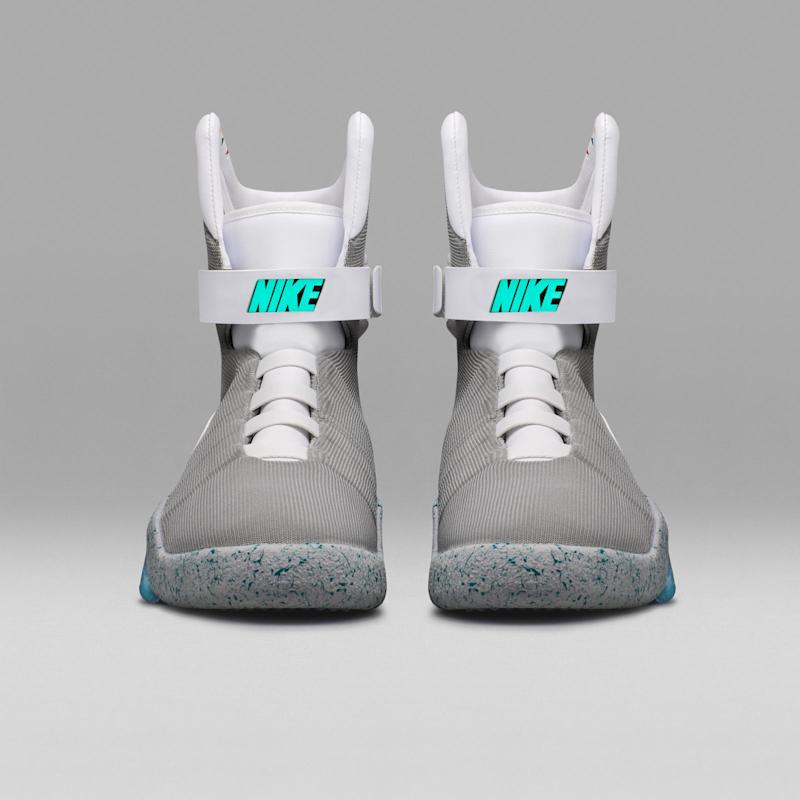 best service 16857 e8475 How to score a pair of Nikes Back to the Future self-lacing