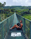 About to cross a really long bridge over the Monteverde Cloud Forest in Costa Rica.