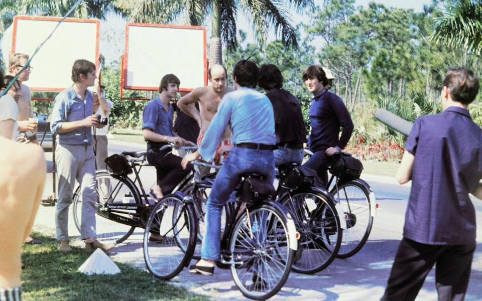 The Beatles filming Help! in the Bahamas