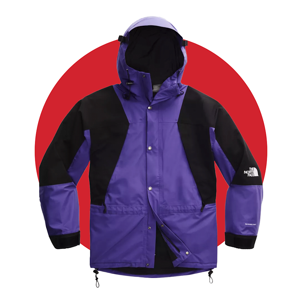 """<p><strong>The North Face</strong></p><p>thenorthface.com</p><p><strong>$349.00</strong></p><p><a href=""""https://go.redirectingat.com?id=74968X1596630&url=https%3A%2F%2Fwww.thenorthface.com%2Fshop%2F1994-retro-mountain-light-futurelight-jacket-nf0a4r52&sref=https%3A%2F%2Fwww.menshealth.com%2Ftechnology-gear%2Fg34088511%2Fmens-health-outdoor-awards-2020%2F"""" rel=""""nofollow noopener"""" target=""""_blank"""" data-ylk=""""slk:BUY IT HERE"""" class=""""link rapid-noclick-resp"""">BUY IT HERE</a></p><p>This retro flex just got a modern update that's perfect for the rainy days of camping season. Now made with FUTURELIGHT fabric, this rain jacket style is lighter than ever with the utmost breathability to keep you from overheating.</p>"""